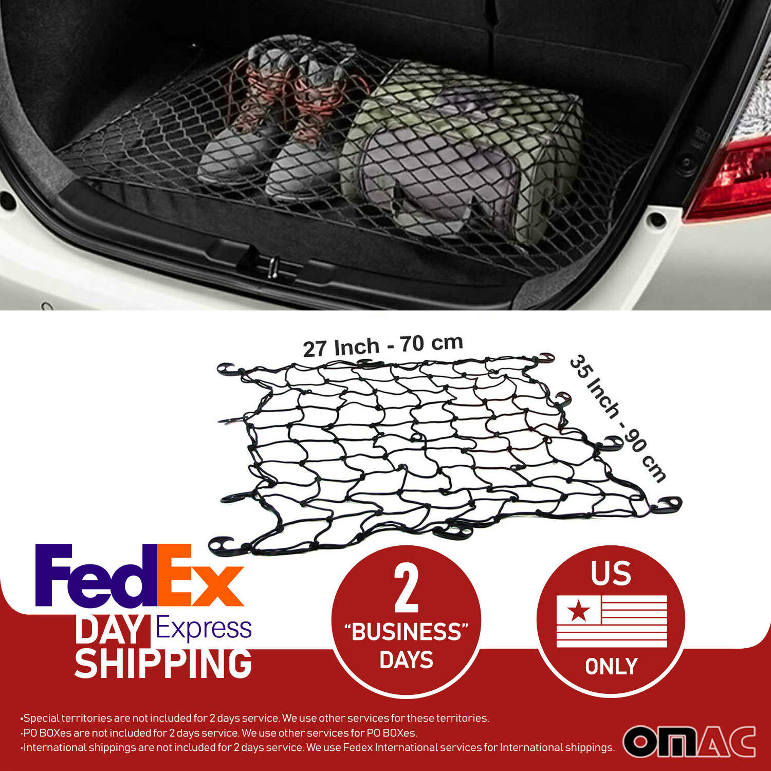 Floor Style Trunk Cargo Net for Cadillac XT5 2017 2018 2019 2020 New