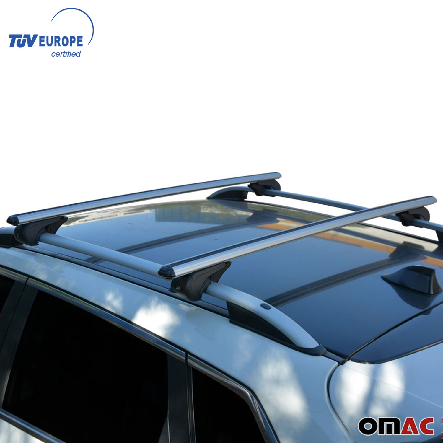 Roof Rack Cross Bars Luggage Carrier Silver For Volvo V70 2007-2019