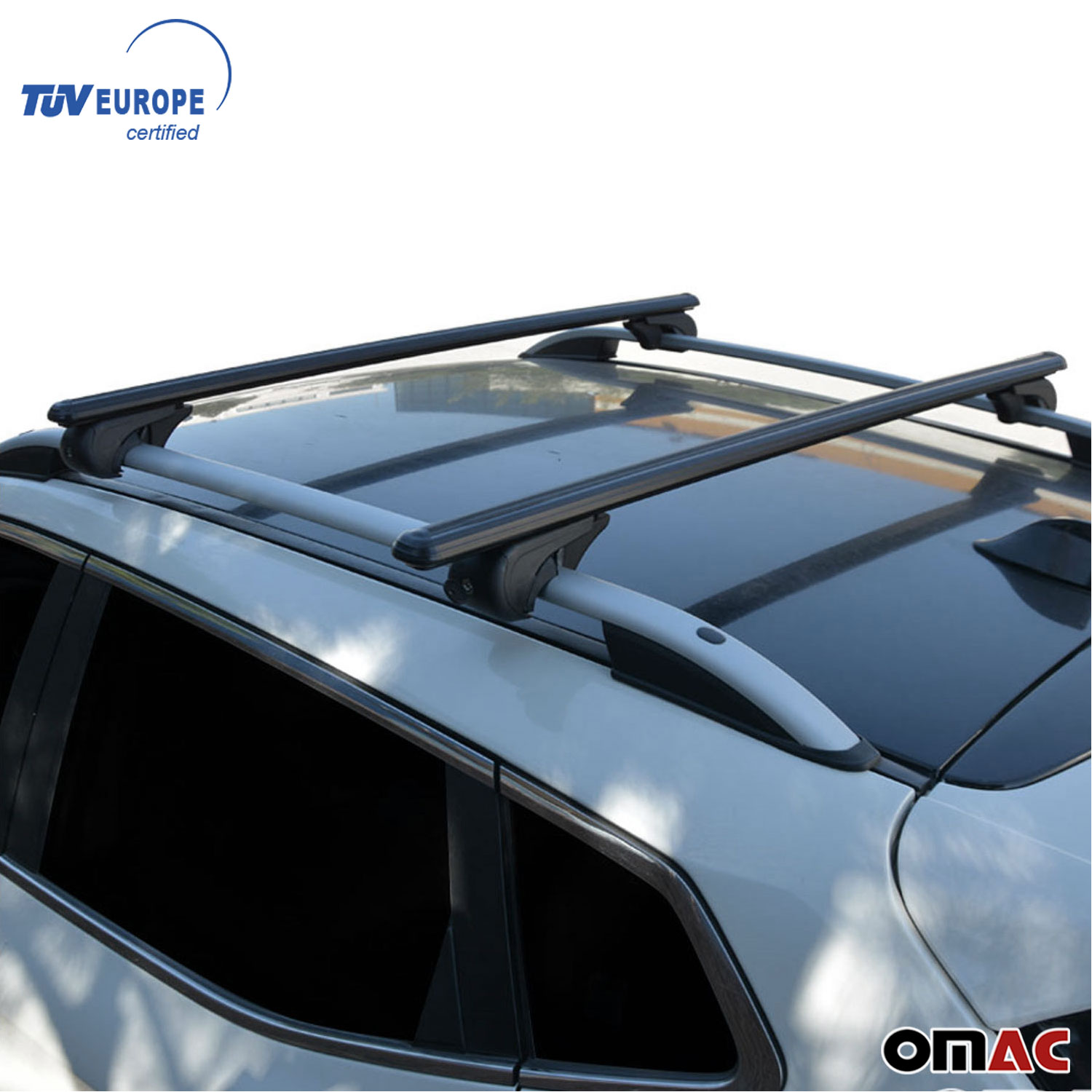 Roof Rack Cross Bars Luggage Carrier Black For Acura TSX
