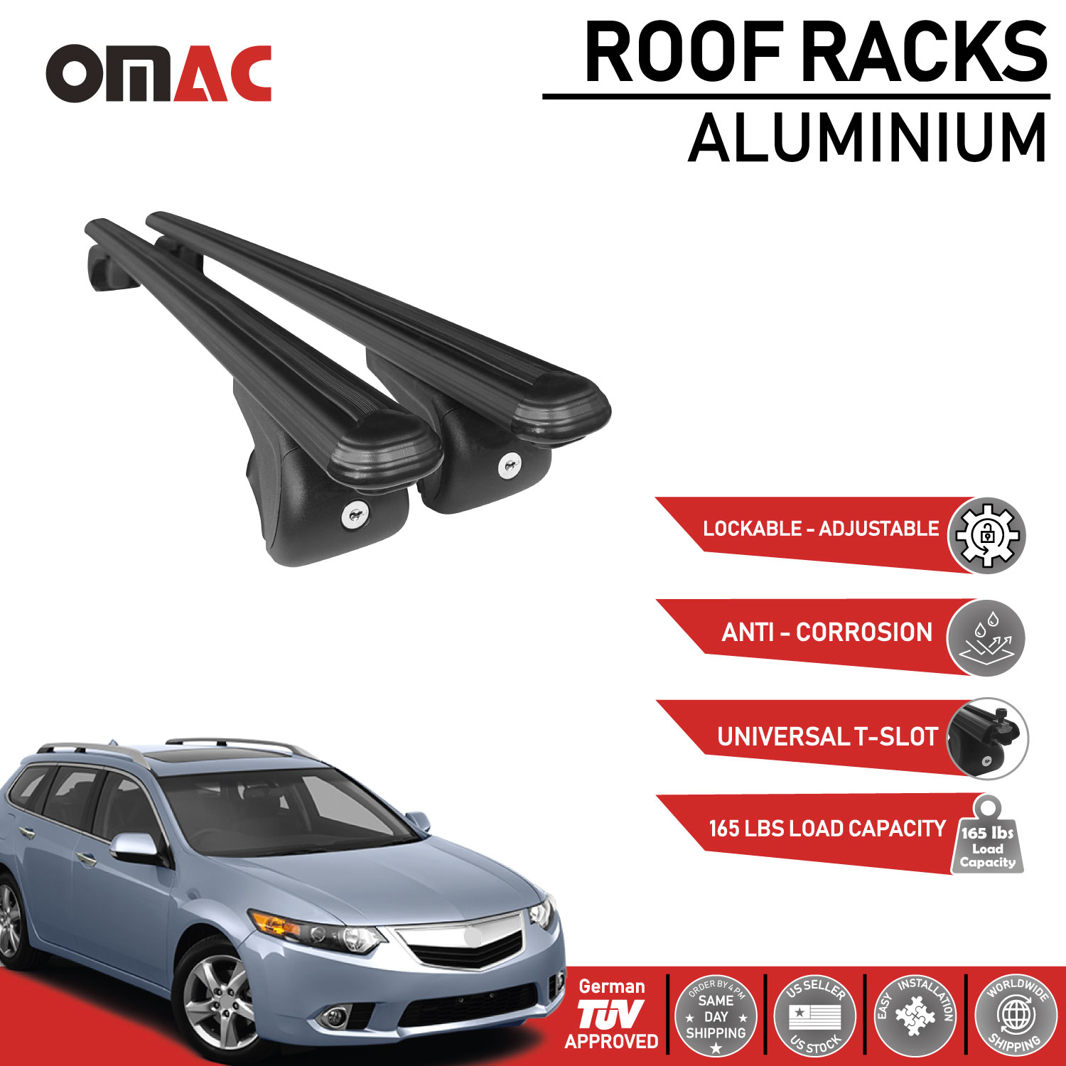 Roof Rack Cross Bars Luggage Carrier Black For Acura Tsx Sport Wagon 2011 2014 Ebay