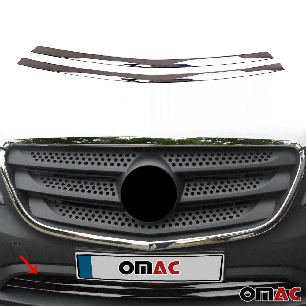 METRIS W447 Chrome Rear Trunk Lid Cover S FIT FOR Mercedes VITO Steel 2014/>UP