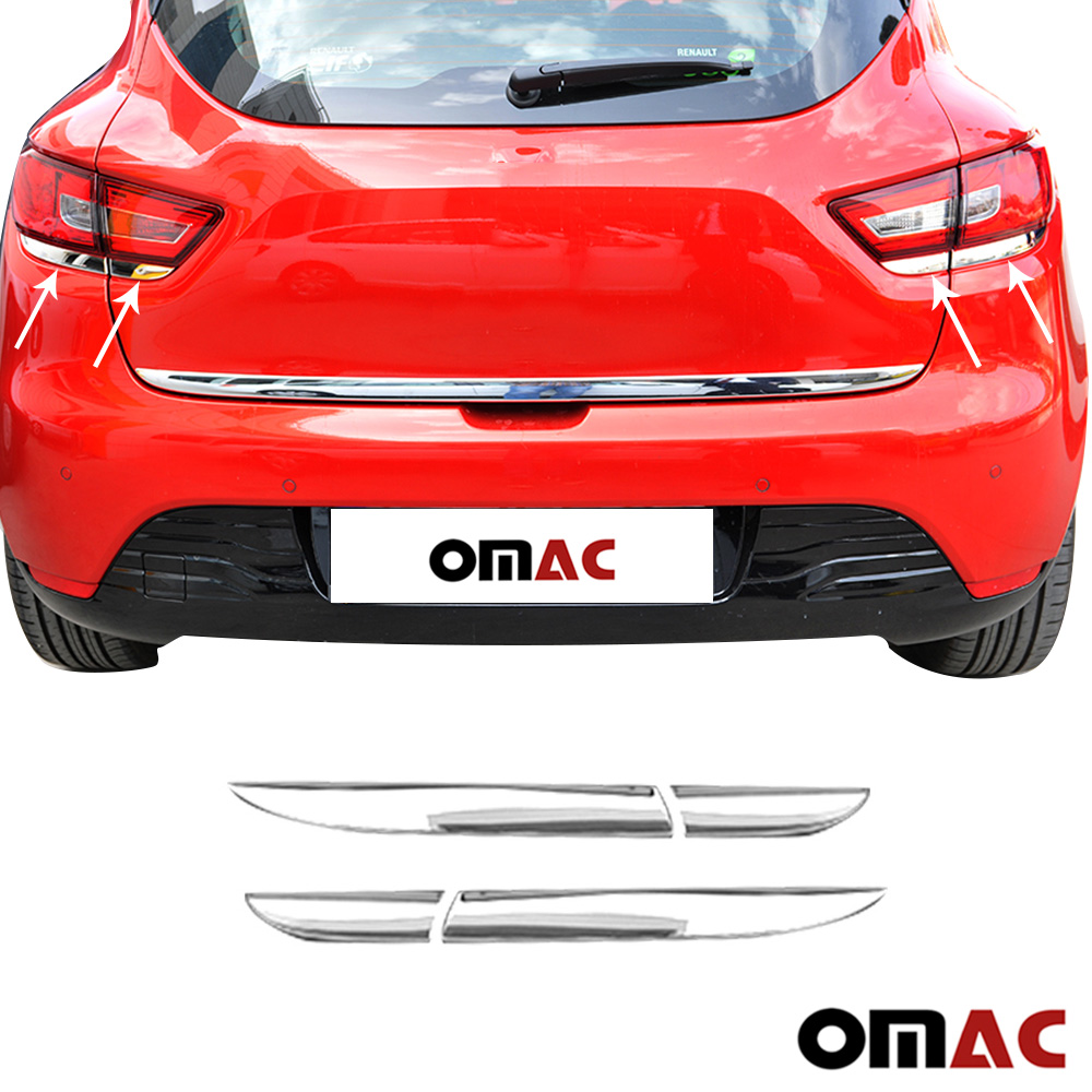 Renault Clio IV HB 2012-2018 Chrome 5 pcs side doors and rear tailgate trim materials stainless steel