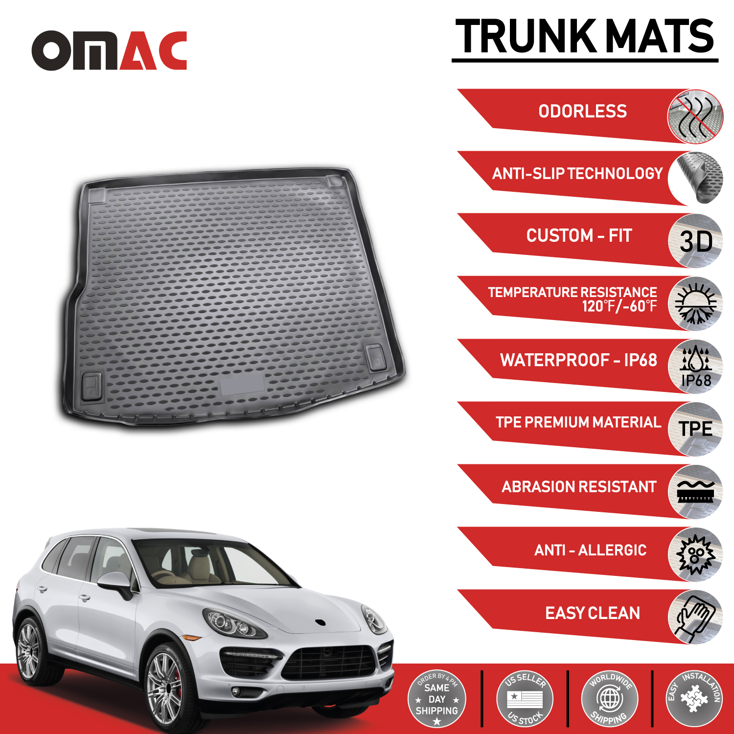 HEAVY DUTY CAR BOOT LINER COVER PROTECTOR MAT 10 on Porsche Cayenne