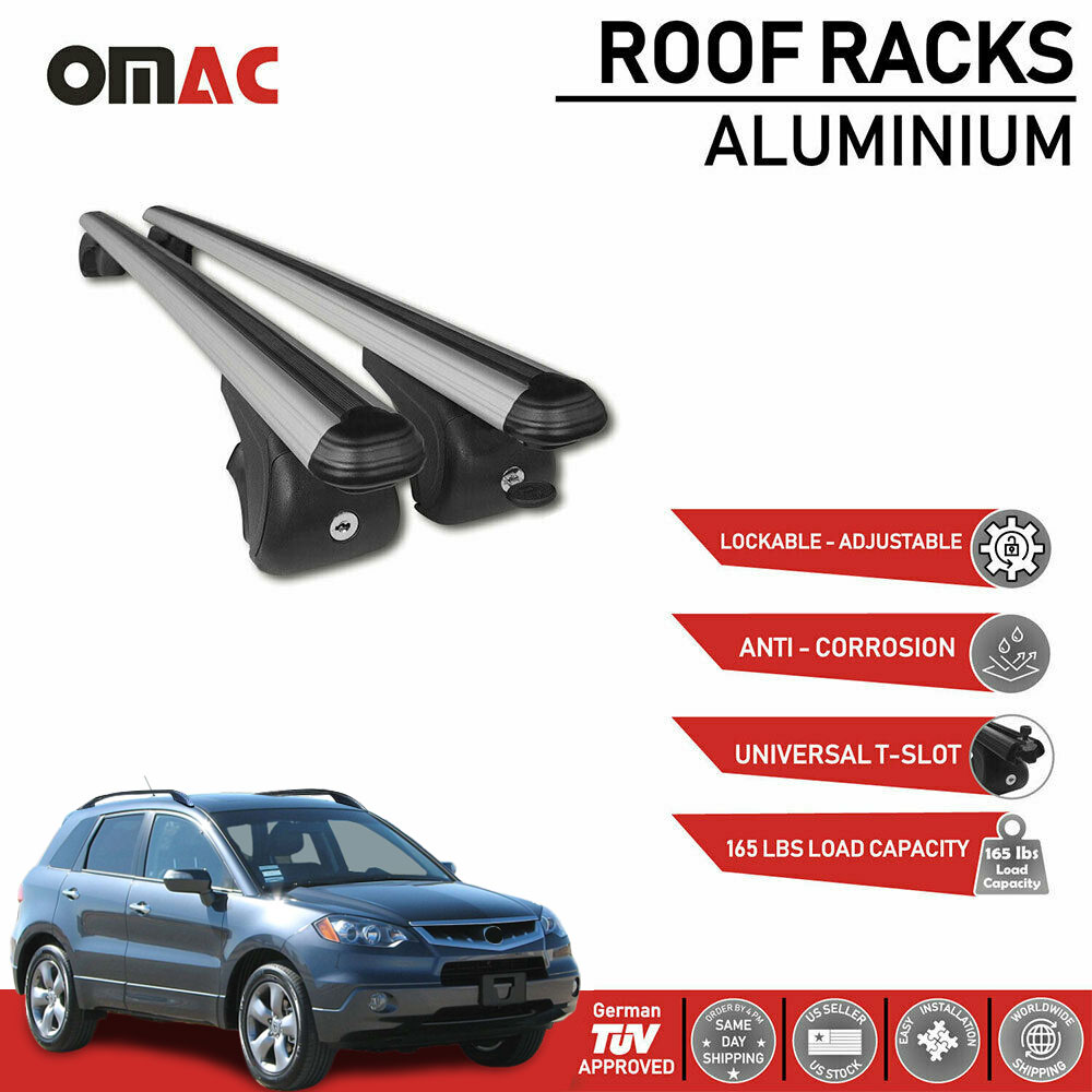 Roof Rack Cross Bars Luggage Carrier Silver Fits For Acura