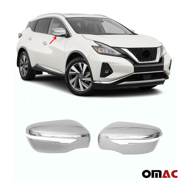 Fits Nissan Juke 2015-2020 Chrome Side Mirror Cover Cap 2 Pcs