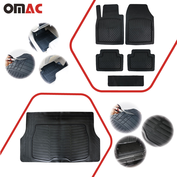 Heavy Duty Rubber Car Boot Liner Mat for Chevrolet Spark 10-On